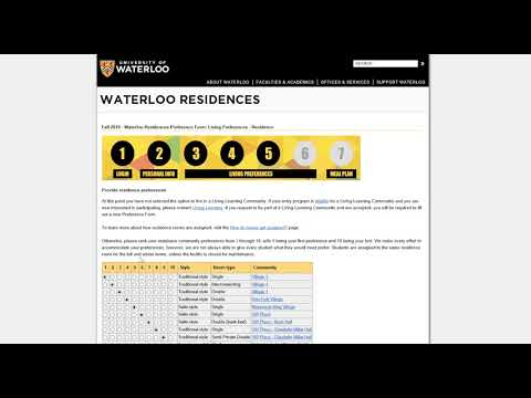 Waterloo Residences Preference Form - Walkthrough