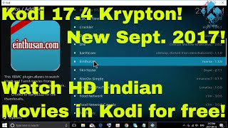 Einthusan Addon working again in Kodi 17.4   Watch HD quality Indian Movies for free! September 2017