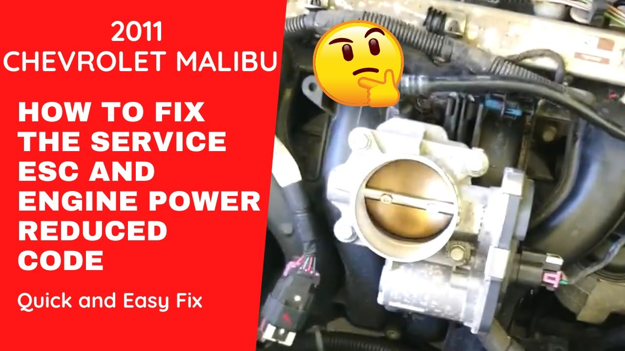 Service Esc Malibu 2011 >> 2011 Chevrolet Malibu How To Fix Service Esc And Loss Of Power