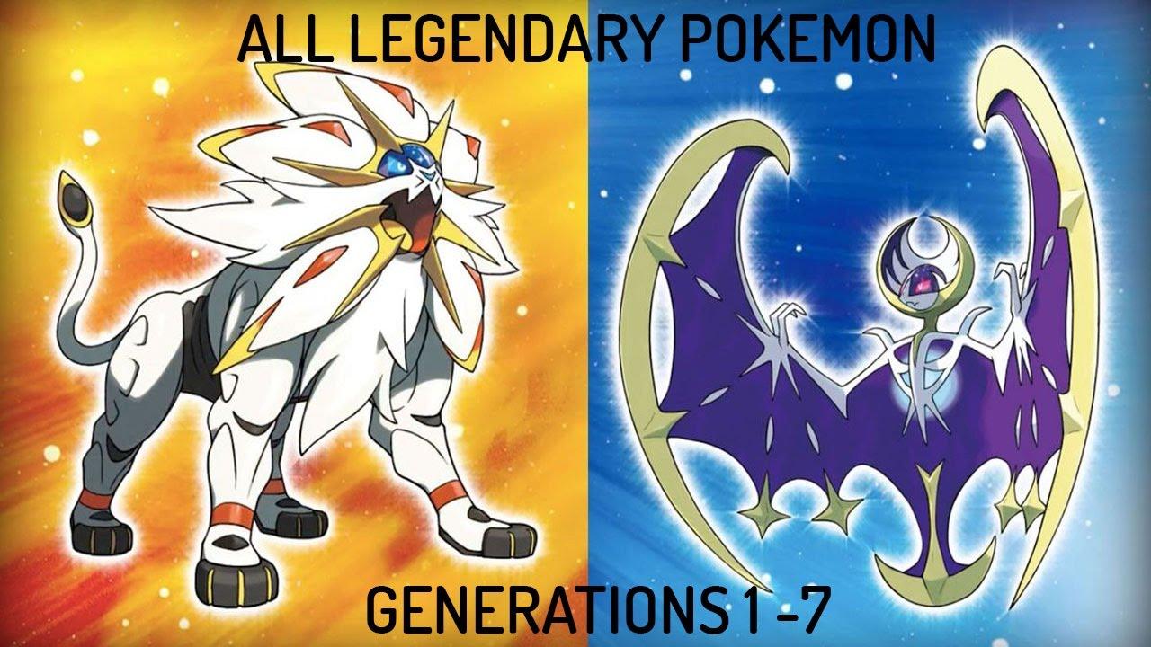 All Legendary Pokemon Gen 1 7 Youtube