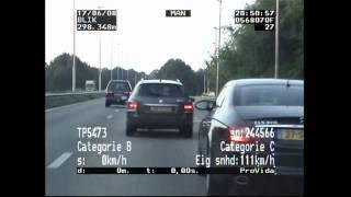 Blik op de Weg OFFICIAL - Fragment Porsche rijdt 213 km/h na correctie; invordering