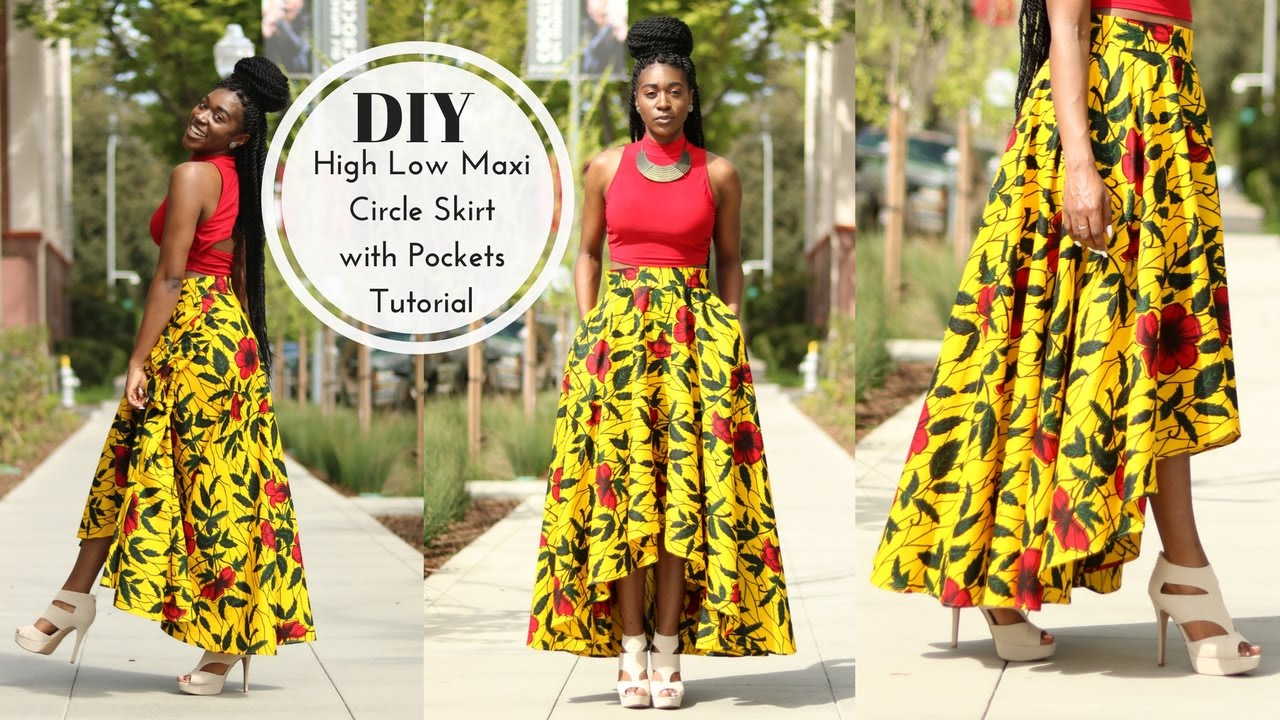 How To Diy High Low Maxi Circle Skirt Tutorial Part 1 Youtube