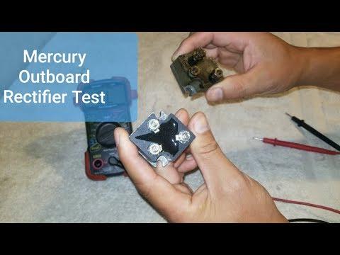 Mercury Outboard L4 & L6 Rectifier Test - YouTube