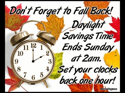 FALL BACKWARDS-SET YOUR CLOCKS BACK ONE HOUR! - YouTube