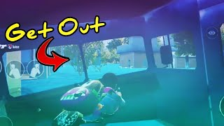 How to get out of van at WaterTown (PUBG Mobile) | EASIEST WAY