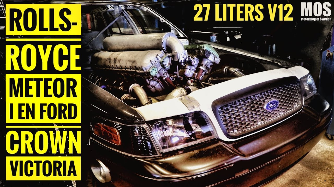 Rolls-Royce Meteor i en Ford Crown Victoria
