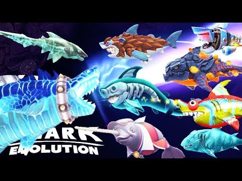 New Godzilla Sharkjira Vs All Special Sharks Hungry Shark Evolution Youtube