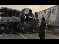6 bus accident Return from umrah many people died, madina to samman see hilarious accident