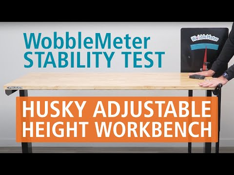 WobbleMeter Stability Test: Husky Height Adjustable Work Bench Table By Home Depot