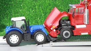 Мультик про машинки. Трактор, эвакуатор, тягач. Авария.  МанкиМульт