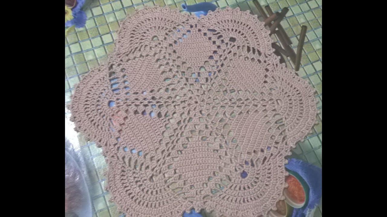 Centro de mesa de croch youtube for Centro de mesa a crochet