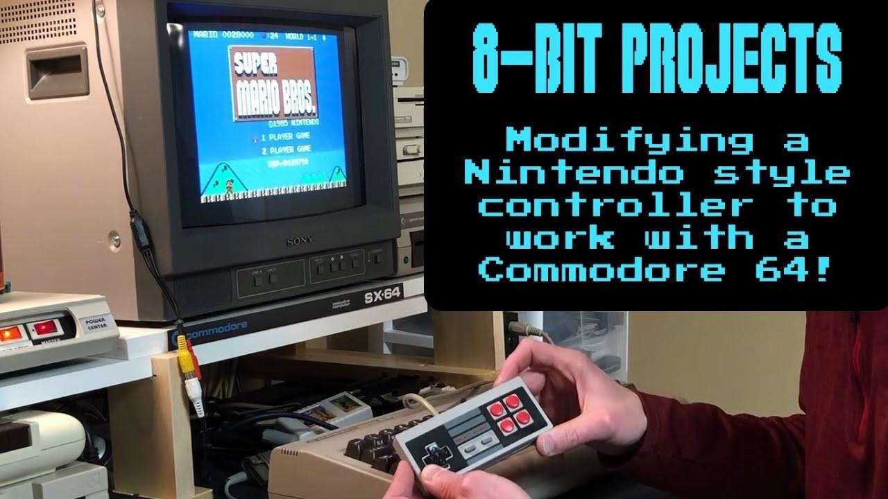 Commodore 64 / NES game controller - Modifying a Nintendo controller for  the commodore 64
