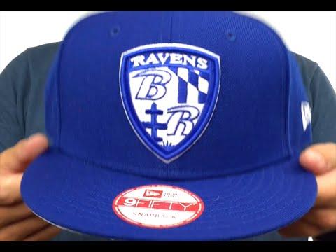 e0f55acb3e0 Ravens  SHIELD TEAM-BASIC SNAPBACK  Royal-White Hat by New Era - YouTube