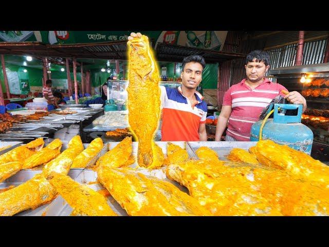 EXTREME Street Food in Bangladesh - WOW!!! WHOLE Fish BBQ Seafood + Street Food Tour of Old Dhaka!!!