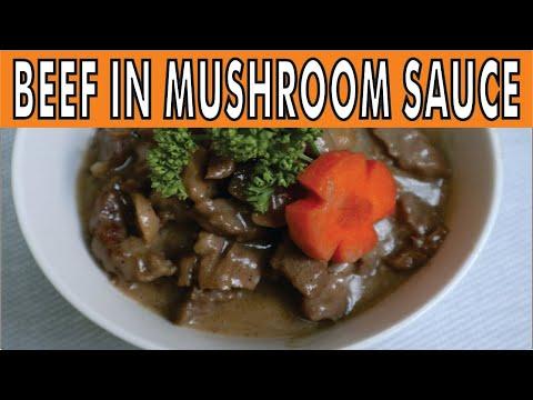Beef In Mushroom Sauce Recipe By CookinGee