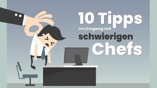 😡10 Tipps im Umgang mit schwierigen Chefs!💢