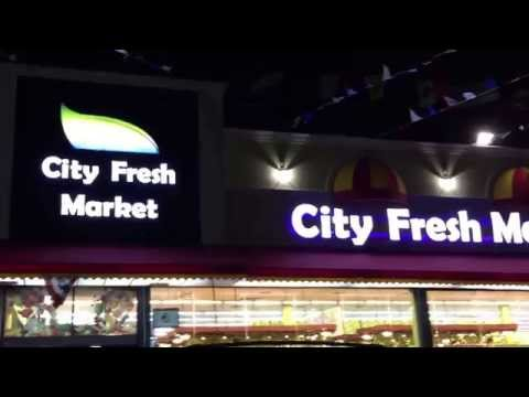 City fresh supermarket 2115 broadway Astoria nights hot, signs, channel letter www.kenansign.com
