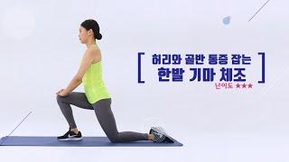허리와 골반 아플 때 좋은 운동 한발 기마 스트레칭