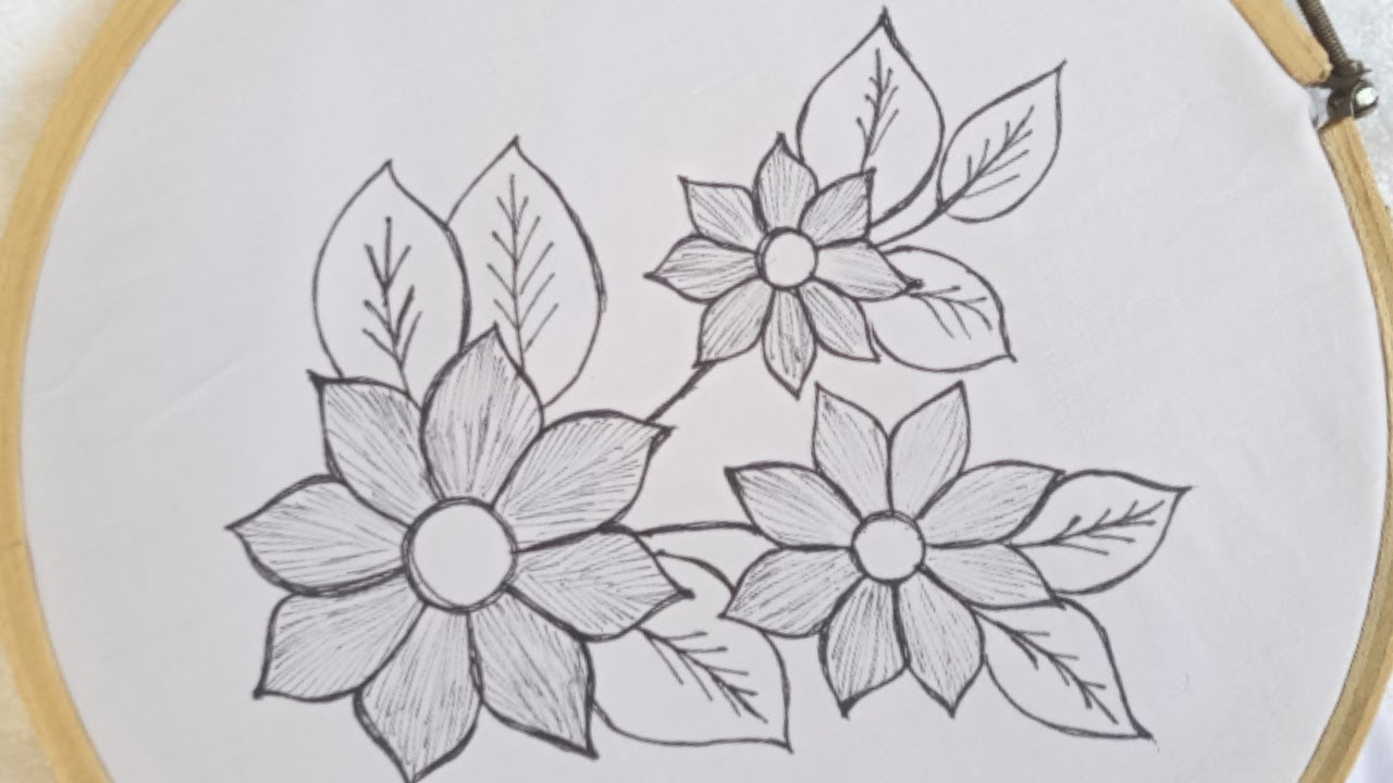 New very simple and beautiful hand embroidery design of  flowers_easy flower embroidery stitches