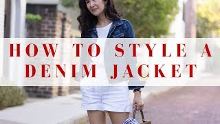 What To Wear With Denim Jackets | 1 Jacket, 4 Seasons
