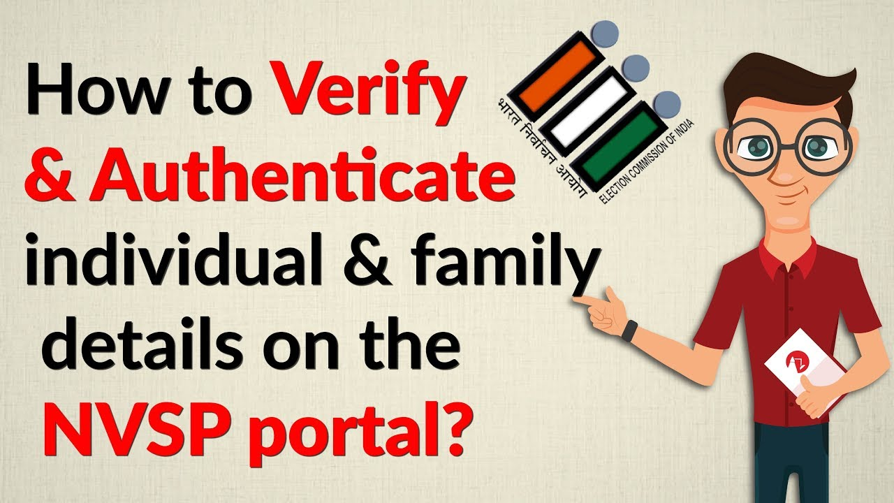 How To Verify Authenticate Voter Id Details On The Nvsp Portal Decode Lite Youtube
