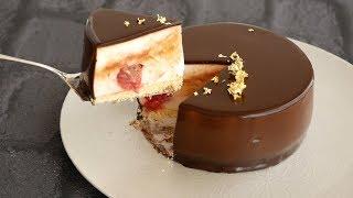 顔も映る!つやつやグラサージュケーキ♡ | Glacage cake 【グラサージュ...