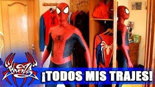 ¡TODOS MIS TRAJES DE SPIDERMAN!