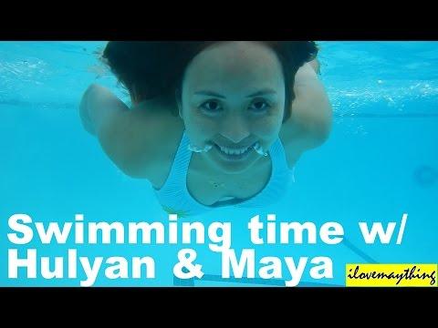 Hulyan & Maya Having Fun in the Swimming Pool! Summer Family Playtime Activity.