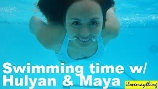 Hulyan & Maya Having Fun in the Swimming Pool - Summer 2014