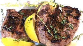 ~lemon Thyme Lambs Steaks With Linda's Pantry~