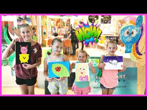 FUN KIDS ART LESSON AND AWESOME ZIP LINING AT THE PARK! FAMILY VLOG!