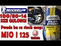 Michelin Tire size 100/80-14 on Mio i 125 stock mags?