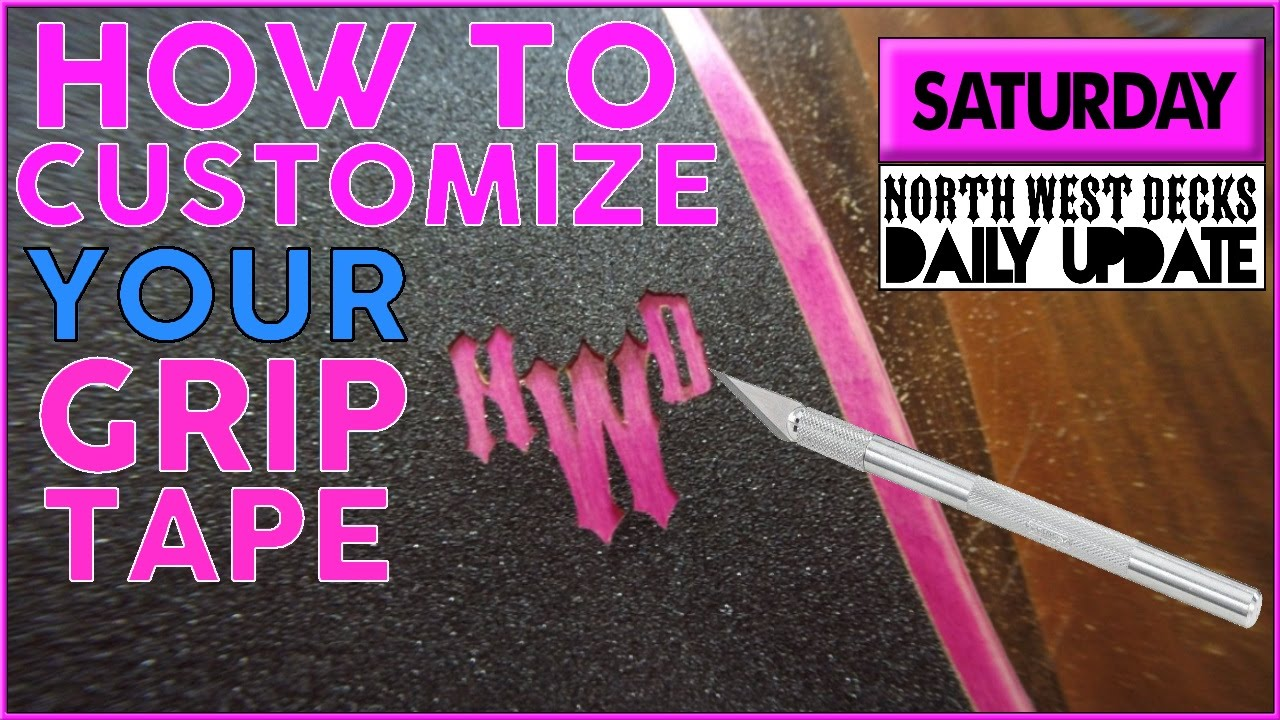 How To Cut Out Grip Tape Designs - YouTube