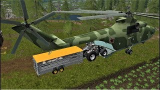 Farming Simulator Animal Transporting With M126 HELICOPTER -SHEEP -