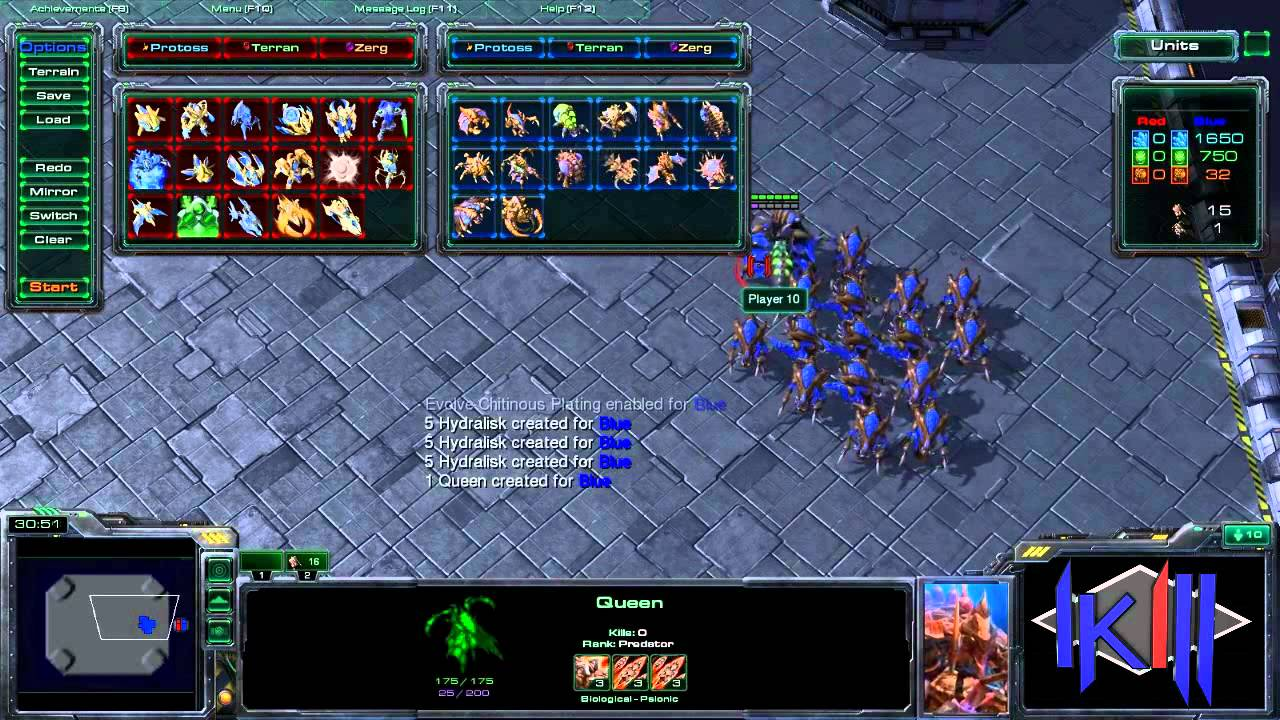 Starcraft 2 Heart Of The Swarm Unit Test Youtube