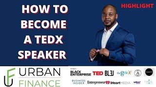 How to Become a TËDx Speaker!