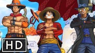 Brothers United! Ace, Sabo & Luffy VS Blackbeard & Burgess! - One Piece Burning Blood