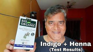 Indigo Powder for hair || Indigo + Henna hair dye test results || henna indigo hair dye
