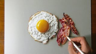 DRAW & EAT - Fried Egg and Bacon