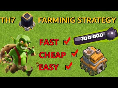 TH7 BEST AND FASTEST DARK ELIXIR FARMING STRATEGY - Clash Of Clans 2019