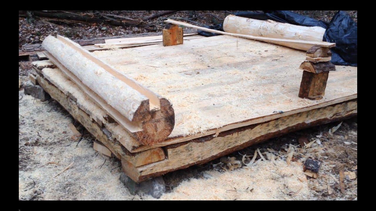 10 39 x 8 39 log cabin episode 6 floorboards part 4 for Log construction