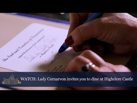 Lady Carnarvon invites you to dine at Highclere Castle