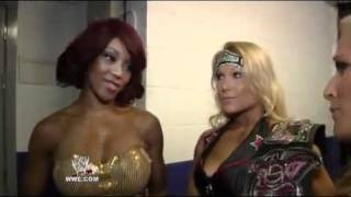 WWE com Exclusive Beth Phoenix and Natalya interrupt Alicia Fox as she talks