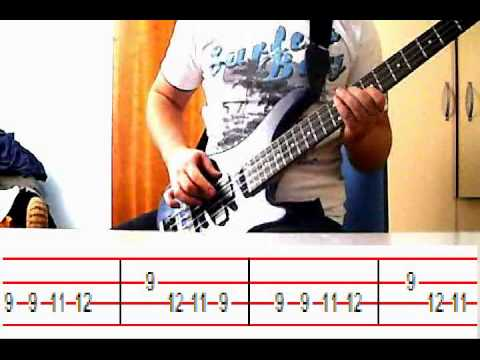 very easy bass guitar song 1 with tabs youtube. Black Bedroom Furniture Sets. Home Design Ideas
