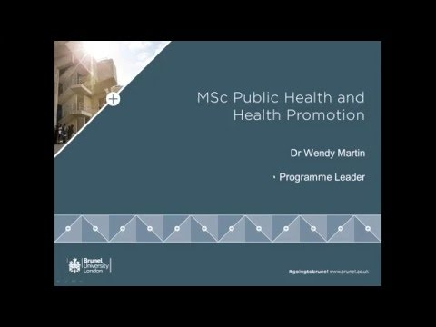 Public Health and Health Promotion MSc Webinar | Thursday 10 March