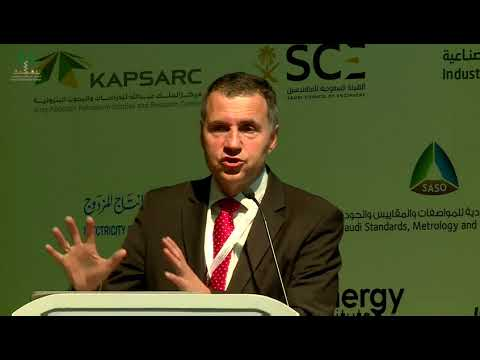 Eng. Konstantin Petrov speaks at the Saudi Electricity Forum 2017