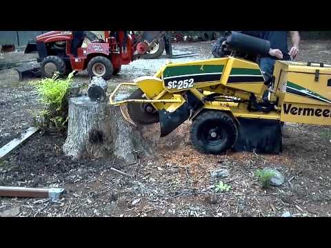 Vermeer Stump Grinder For Sale >> 2007 Vermeer Sc252 Stump Grinder Cutter For Sale Youtube