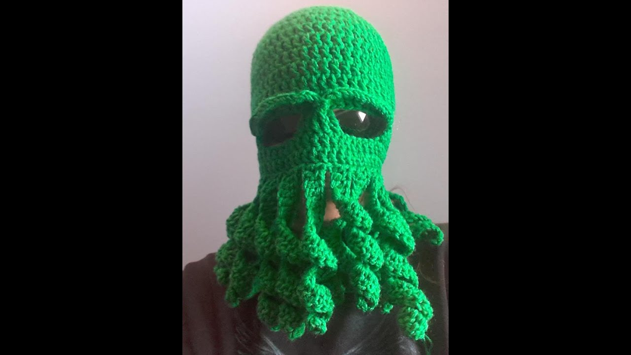 Crochet Octopus Mask YouTube Delectable Crochet Octopus Hat Pattern