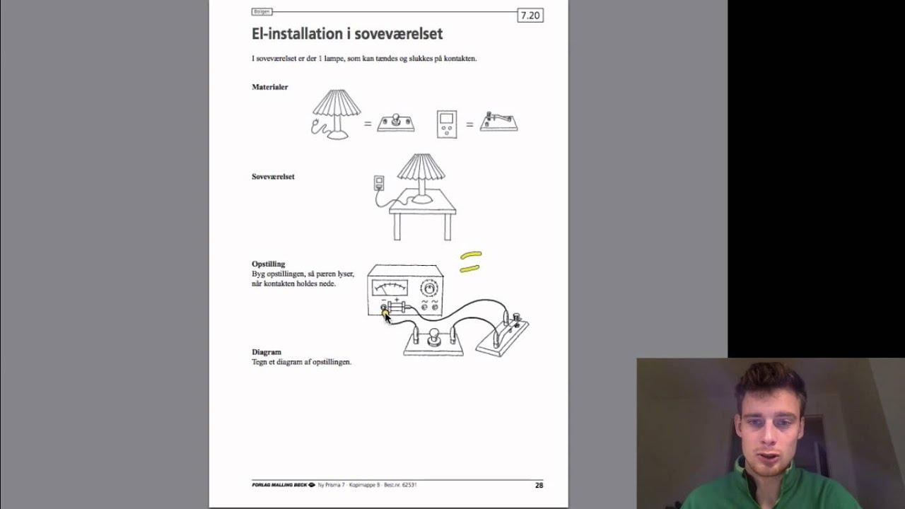 Elektricitet -  Øvelse 3: El-installation i soveværelset