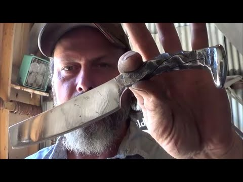 Blacksmithing - Forging A Railroad Spike Froe For Kindling